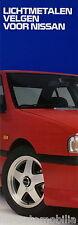 Prospekt NL Nissan Lichtmetalen Velgen 1992 Autoprospekt Leichtmetallfelgen Auto