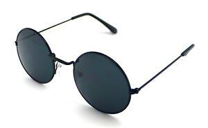 PT-Gafas-de-Sol-Hippie-Retro-Redondas-Hombre-Mujer-Sunglasses-UV-400-Negro