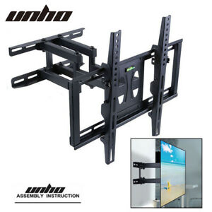 Ultra-Slim-TV-Wall-Mount-Full-Motion-LED-LCD-120-Degrees-Swivel-VESA-Bracket