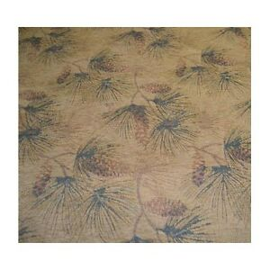 Image Is Loading Upholstery Fabric White Pine Sage Cabin Rustic Pinecone