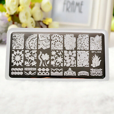 BORN PRETTY Nail Art Stamping Plate Image Stamp Stencil Template Manicure DIY