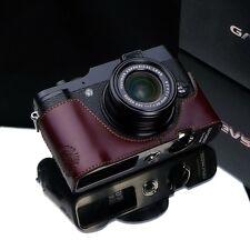 New GARIZ Leather FUJI X20 Half Case Brown For  Fujifilm X20 Case FUJI X10 Case