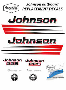 Johnson-BOMBARDIER-225hp-Replacement-Outboard-Decals-stickers