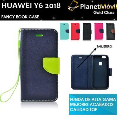 Funda De Tapa View De Alta Gama Huawei Y6 2018 Con Tarjetero Libro Y Solapa Prezzo Moderato
