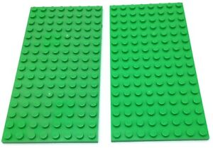 LEGO New Lime Green 8x16 Stud Plate Pieces