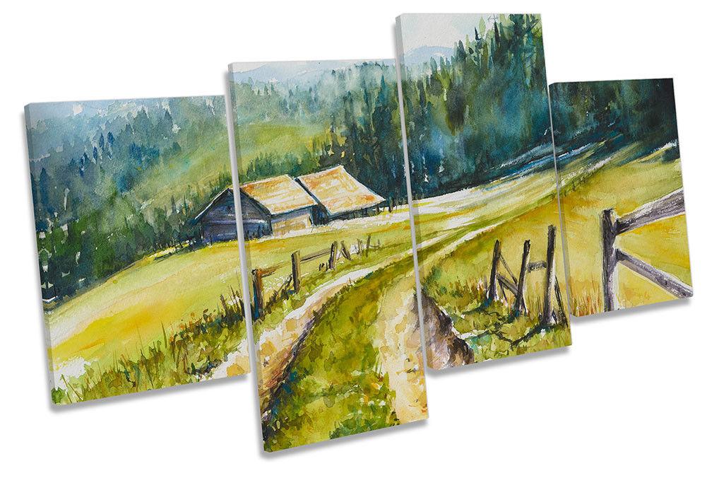 Paisaje de Rural Campiña de Paisaje impresión de múltiples DE LONA pared arte enmarcado 6ecdcd