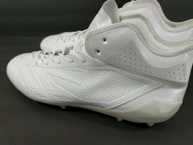 eb47f6e72 Adidas Adizero 5-Star 6.0 Mid Football Cleats Men Size 17 Pearl White BW1091  New