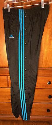 para castigar no pagado cepillo  Adidas lined Nylon Tearaway Snap Swishy Wind track Pants 90s M Medium snaps  | eBay