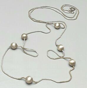 Art-Deco-Silber-Kette-835-Silber-punziert-20er-30er-Jahre-Kugelkette-A696