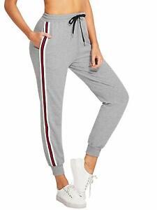 69f8a0f4bb1c7 SweatyRocks Women s Drawstring Waist Striped Side Jogger Sweatpants ...