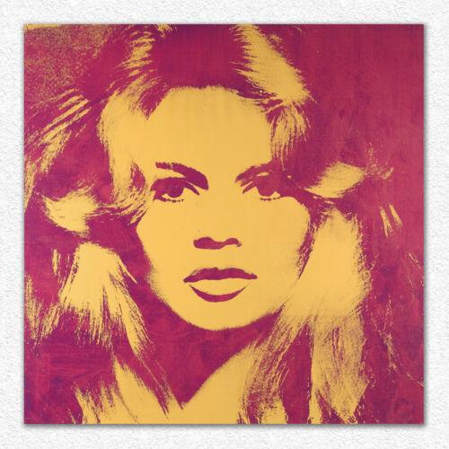 Andy Warhol   Brigitte Bardot  100x100 cm  STAMPA TELA CANVAS PRINT TOILE LIENZO
