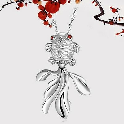 Hot Charm Ocean Fish Chunky Statement Necklace Pendant Jewelry Chain Pendant ESY