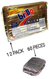 12 PACKS BRILLO SOAP PAD SCOURERS EXCELLENT FOR CLEANING GREASY UTENSILS AND PAN