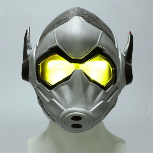 Ant-Man and the Wasp Helmet Wasp Cosplay Halloween Latex Mask Light Version New