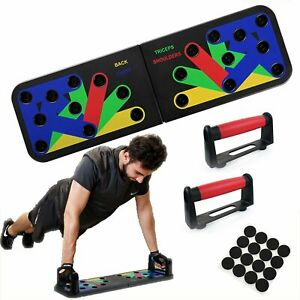 9 in1 Push-up Board Rack Workout Train Exercise Pushup Stands Fitness Sports Gym