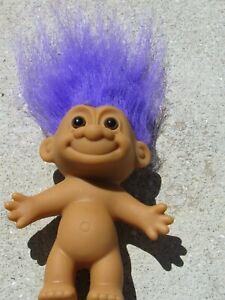 "Vintage 5/"" Troll ARTIST PAINTER  by RUSS,Doll w// PURPLE Hair NEW Orig Wrapper"