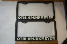 Pair Of Otis Spunkmeyer Plastic License Plate Frames