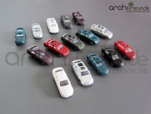 Modelleisenbahn  Spur Z für Modellbau 1:200 20 x Modell Autos BMW//Porsche usw