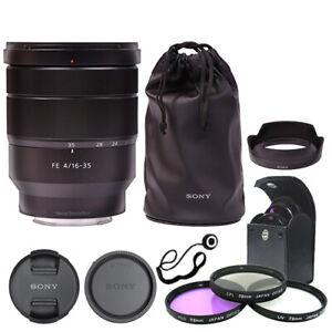 Sony Vario-Tessar T* FE 16-35mm f/4 ZA OSS Lens SEL1635Z + Deluxe Accessory Kit