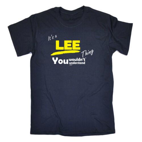 Drôle Nouveauté T-shirt homme tee tshirt-Lee V1 nom chose