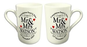 7cc9564b5ed Image is loading Pair-of-Personalised-Congratulations-Mr-amp-Mrs-Wedding-