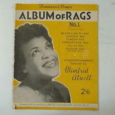 JAZZ PIANOFORTE tranciatura onorevole Winifred Atwell Album di stracci No. 1