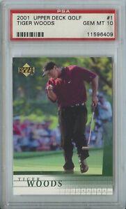 Tiger Woods 2001 UD Upper Deck Golf #1 RC Rookie Gem Mint PSA 10