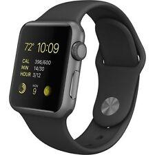 Apple Watch Sport 38mm Space Gray Aluminum Case Black Sport Band (MJ2X2LL/A)