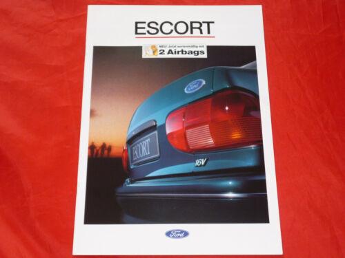 listino prezzi di 1994 FORD ESCORT CL CLX Ghia Ghia si xr3i RS 2000 prospetto
