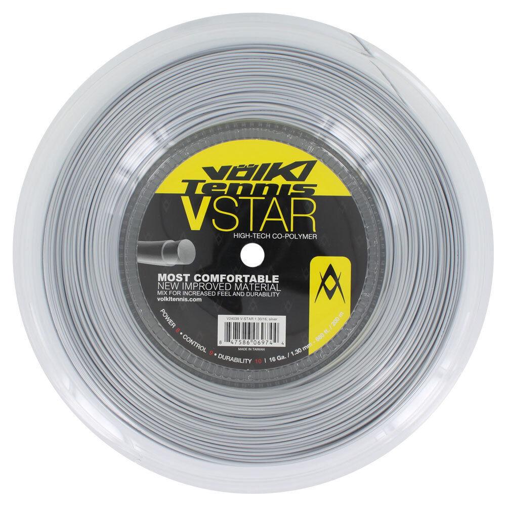 Volkl V-Star del Tennis Stringa 200m 200m 200m Mulinello 19/1.10mm - Argento 7bd142
