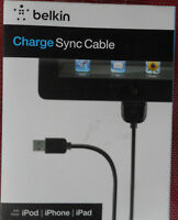 Belkin Charge Sync Cable For Ipod Iphone Ipad (f8z635tt04-blk) -