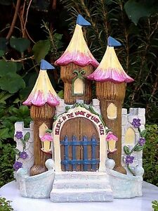 Miniature Dollhouse FAIRY GARDEN Furniture ~ Fairytale Flower Castle House