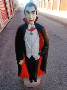 "Bela Lugosi Dracula Vampire Blow Mold Halloween Lighted Featherstone 42"" Tall"