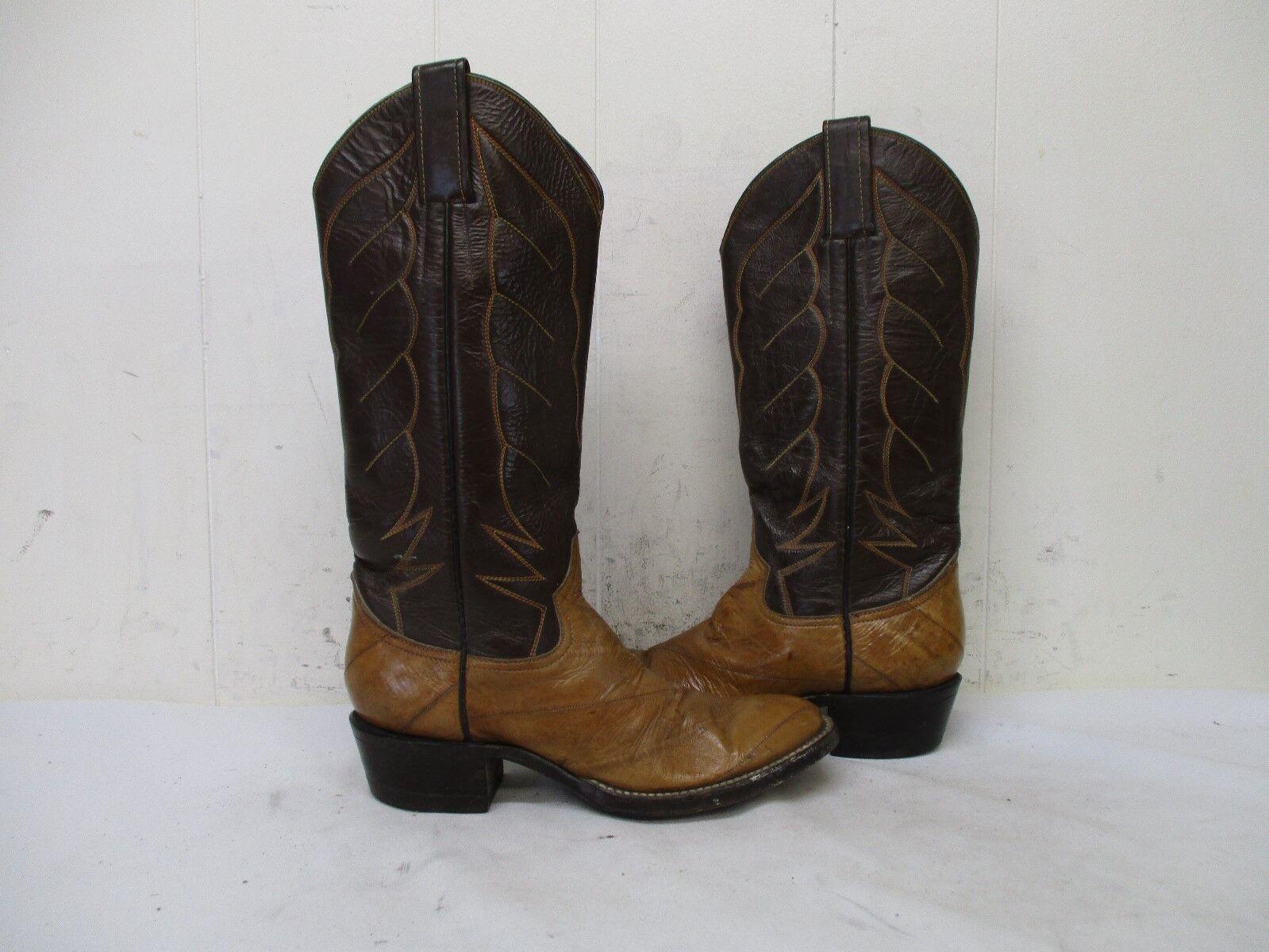 risparmia fino al 50% Renegade Marrone Eel Skin Leather Cowboy stivali donna Dimensione Dimensione Dimensione 5 B Style 4063US  all'ingrosso a buon mercato