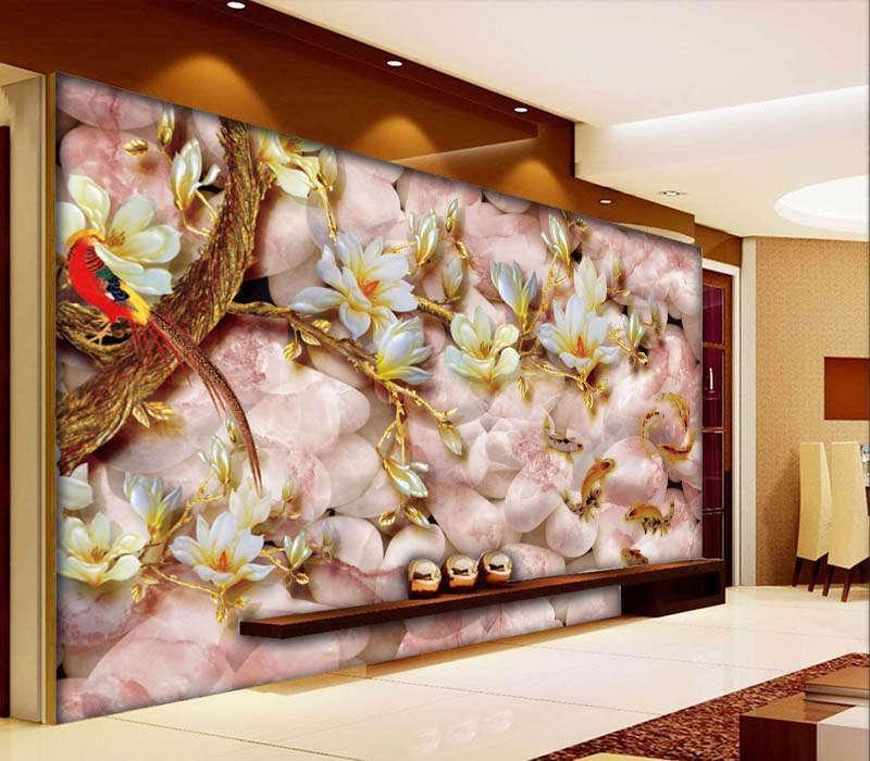 Pure Novel Magnolia 3D Full Wall Mural Photo Wallpaper Printing Home Kids Decor