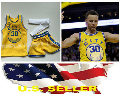 ❶ NBA 1//6 Stephen Curry Golden State Warriors Jersey #30 pour ENTERBAY Body USA ❶