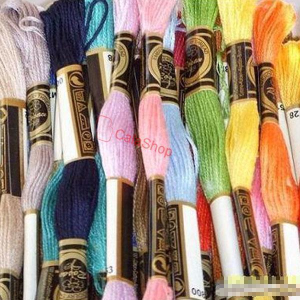 447 pcs Cross Stitch Skeins Cotton Embroidery Thread Floss Sewing 8M/s SA98Mx KK