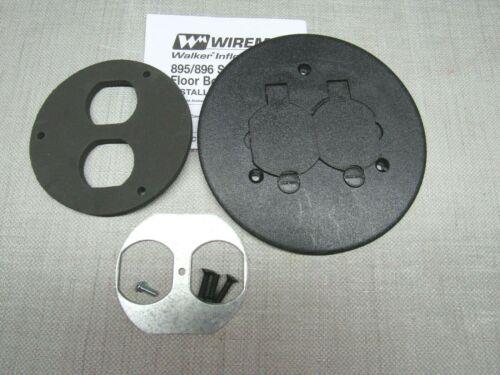 Wiremold 895P BLK Duplex Non Metalic Round Carpet Cover