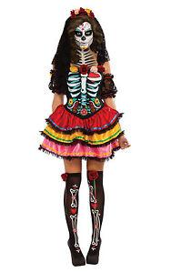 Fancy-Dress-Costume-Halloween-Day-Of-The-Dead-Senorita-Size-8-18