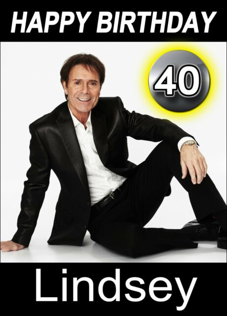 Cliff Richard Personalised Birthday Card Any Name Age Relative Ebay