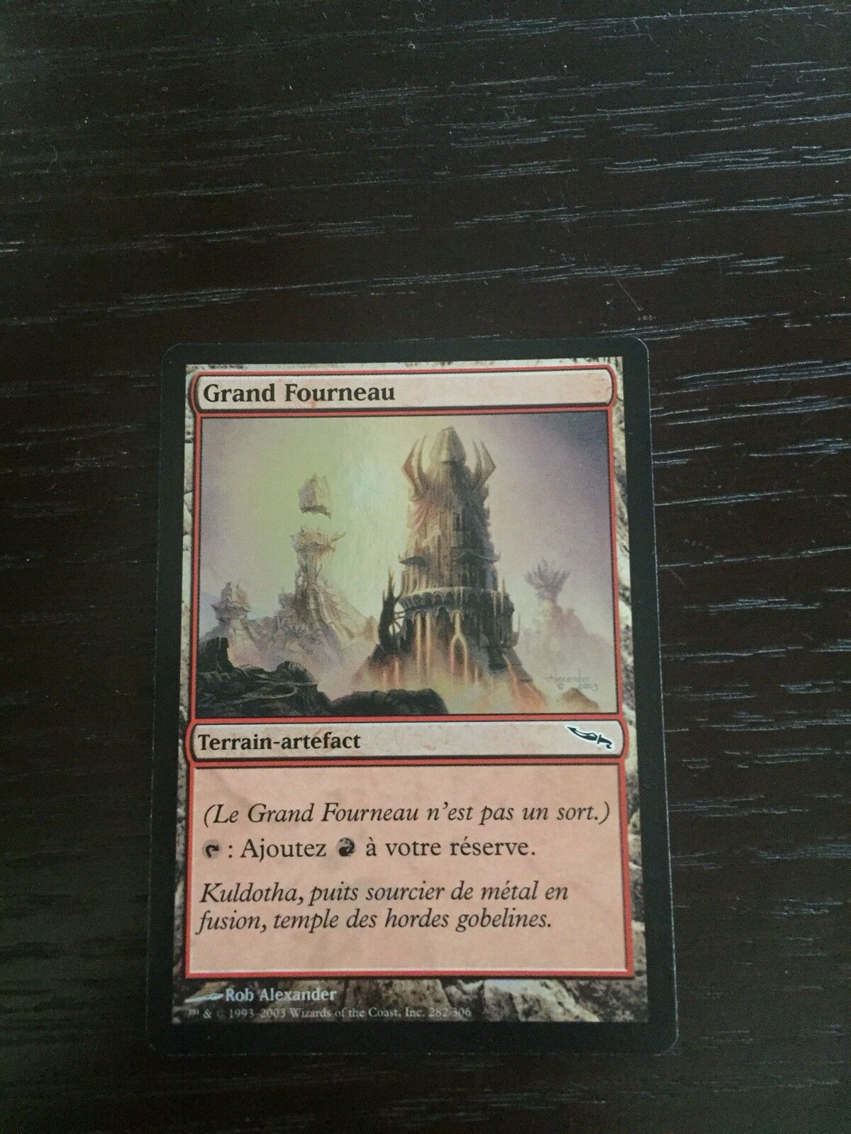 MTG Foil Great Furnace - French - Mirrodin - NM