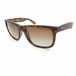 ray ban justin polarized  New Ray Ban Justin 4165 865/T5 Matte Rubber Havana Gradient ...