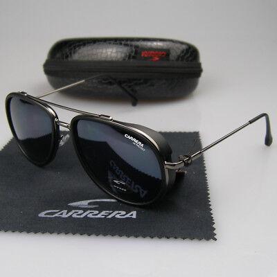 Men Women/'s Retro Aviator Sunglasses Metal /& Plastic Frame Carrera Glasses BOX