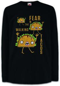 Fear-The-Walking-Tacos-Kinder-Langarm-T-Shirt-Fun-Dead-Taco-Love-Zombie-Zombies