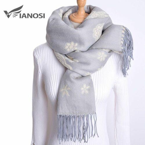 Warm Winter Scarf for Women/'s Wrap Tassel Flower Thick Foulard Shawls Hijab Gift