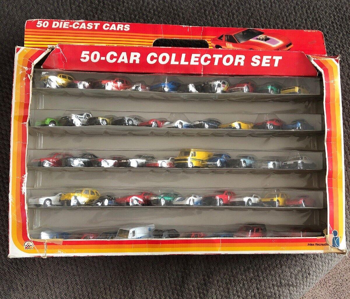 1989 INTEX RECREATION. 50 CAR COLLECTOR SET. Factory Sealed