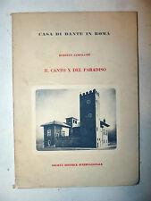 Divina Commedia - Zampilloni: Canto X del Paradiso 1963 Casa di Dante in Roma