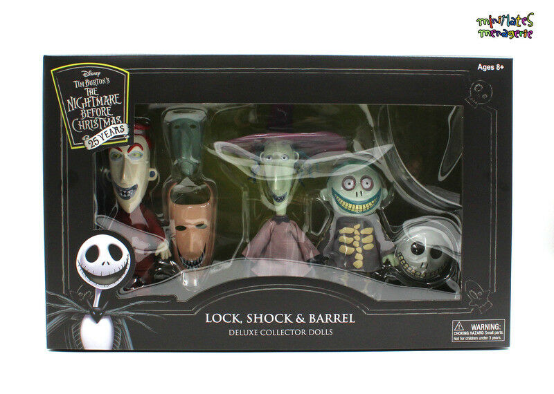 Nightmare Before Christmas Lock, Shock & Barrel Deluxe Cloth Collector Dolls