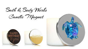 New-Bath-amp-Body-Works-Large-Round-3-Wick-Candle-Lid-Magnet-Decor-Choose-Theme
