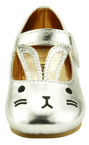 Baby Girl/'s Dress Shoes Mary Jane Easter Bunny Toddler size